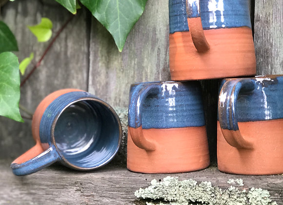 Indigo Halfling Mugs: set of 4