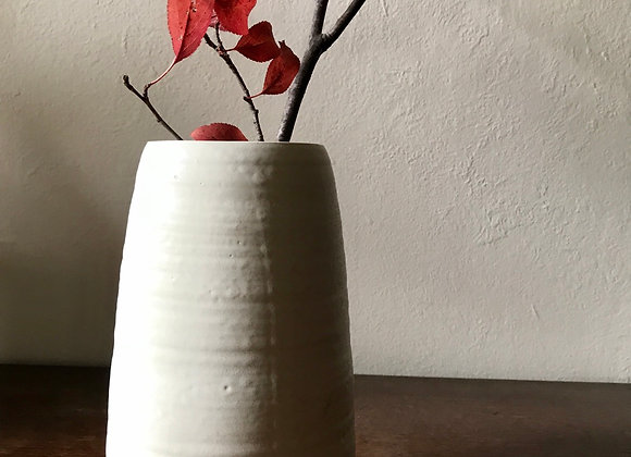 Tapered Vase: Stone White