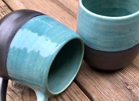 Meridian Mug: Ocean/Gunmetal