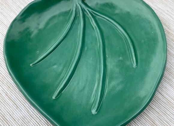 Leaf Soap Dish in Seafoam Green