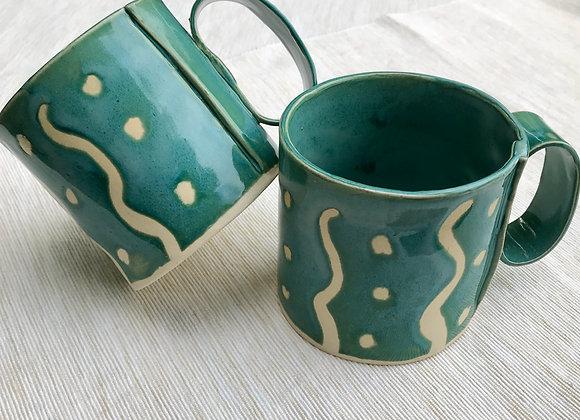 Handbuilt Mugs: Set of 2