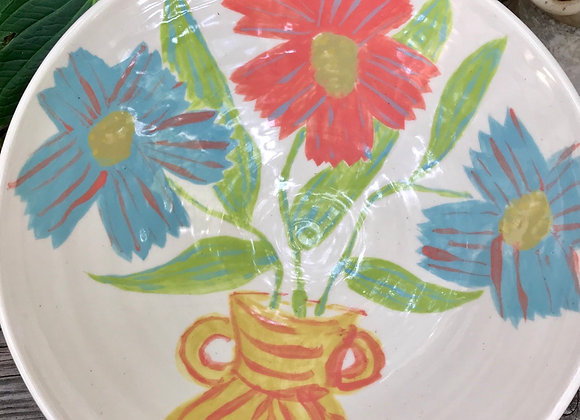Bowl: Vase With Flowers