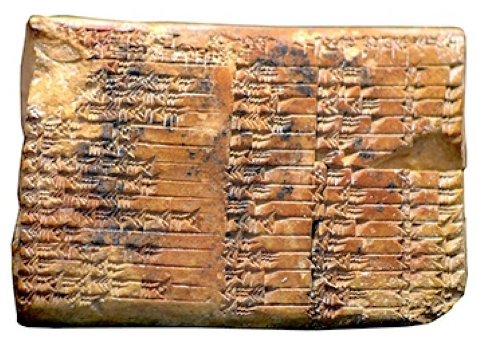 La tablette Plimpton 322 - 18è S. AEC.