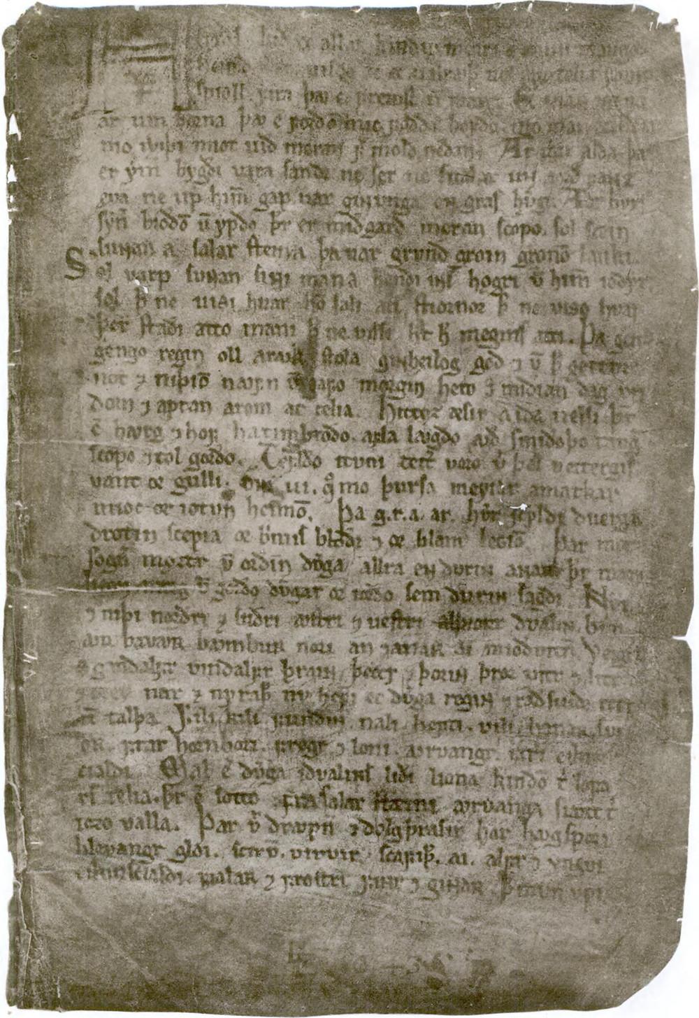 Codex Regius [R] or Konungsbók, The King's Book  [K] / Völuspá