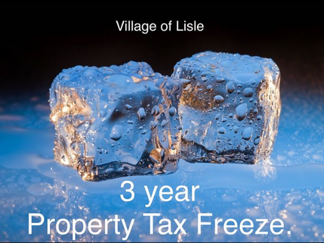 Tax FREEZE in Lisle