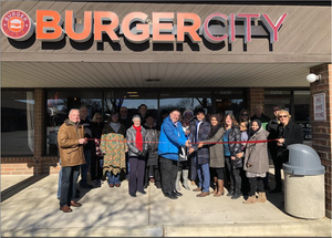 Mayor Chris Pecak and Trustee Marie Hasse congratulates Burger City on their ribbon cutting event! We are so happy to welcome you to Lisle and wish you much success with your business! — in Lisle, Illinois.