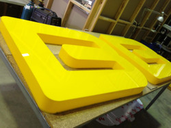 Coloured Acrylic Fabricated Letters