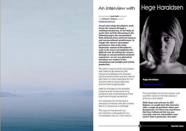 HEGEH ArtHabens interview