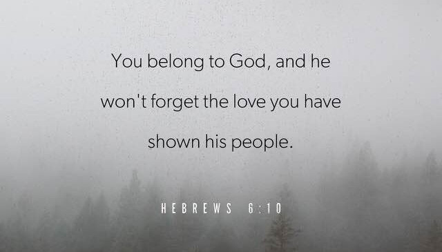 Keep sharing His love all you Saints.