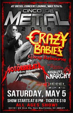 Crazy Babies - Cinco De Metal 5.5.18