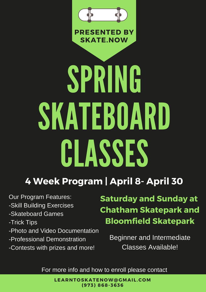 April Skateboard Classes