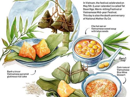 Happy Vietnamese Mid-year Festival (Tết Đoan Ngọ), May 5th on Lunar calendar.