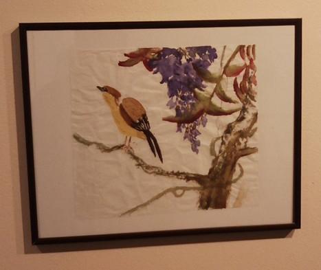 Bird w/ Purple Flowers