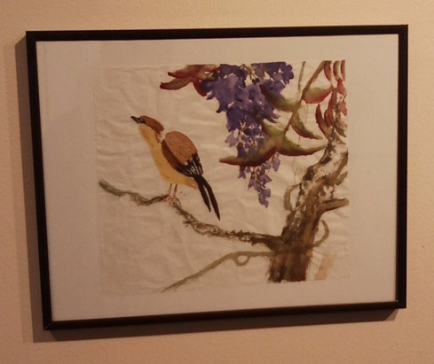 Bird w/ Purple Flowers