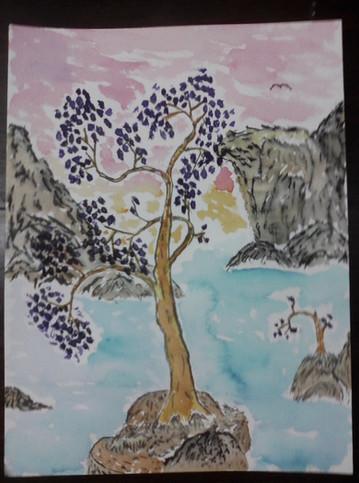 Trees w/ Purple Flowers