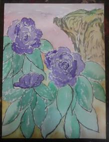 Purple Roses Sunset