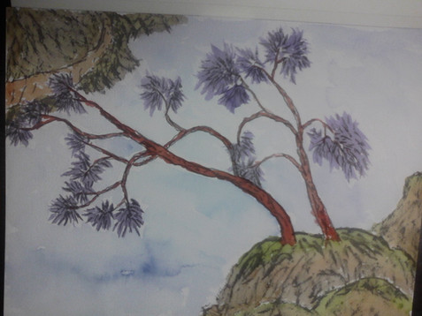 Purple Trees Blue River