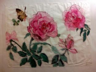 4 Roses 3 Butterflies