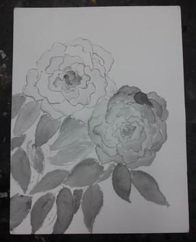 2 Roses b/w