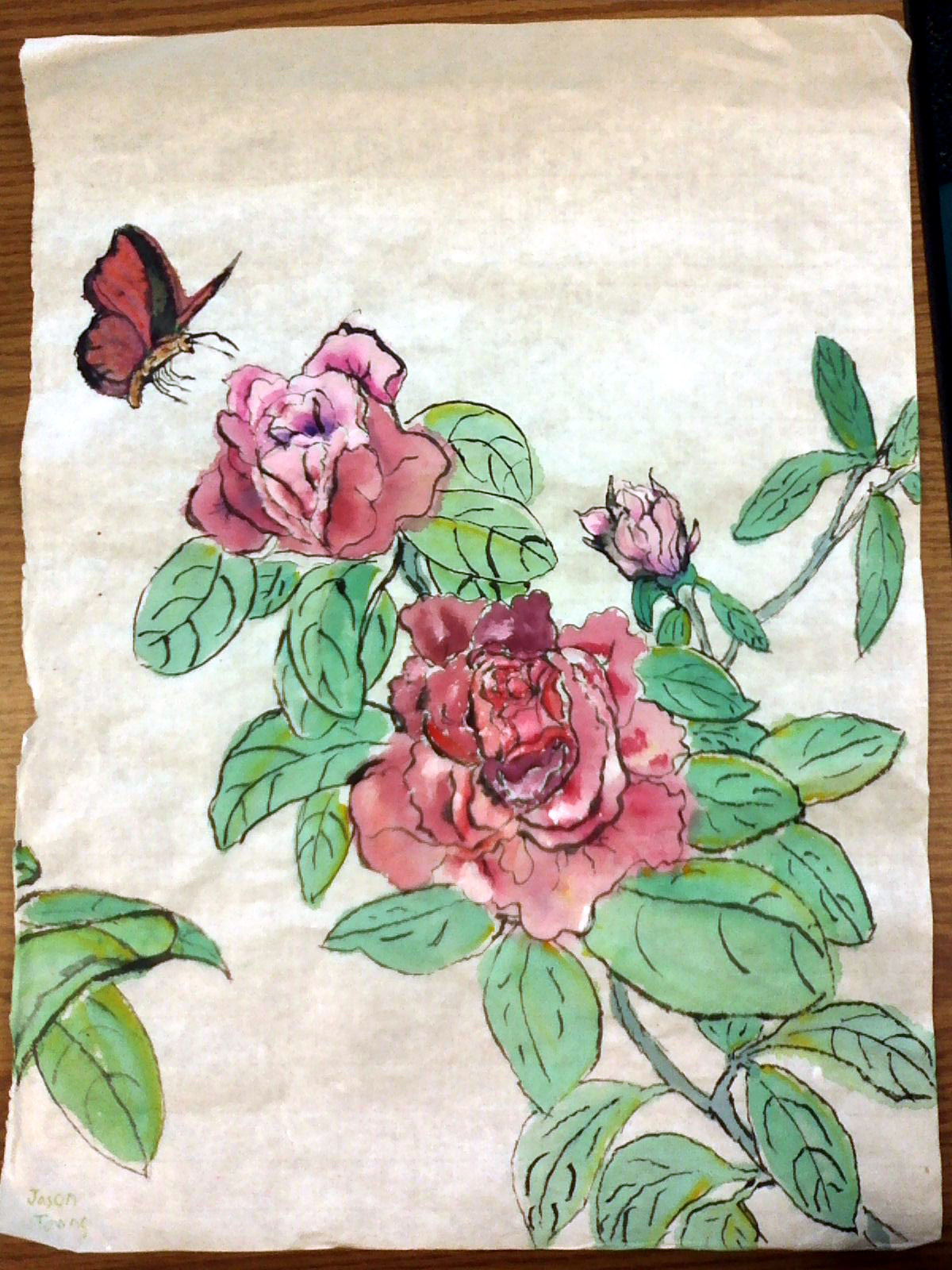 Butterfly w/ Roses