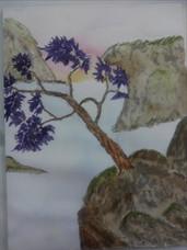Purple Flowers Alone