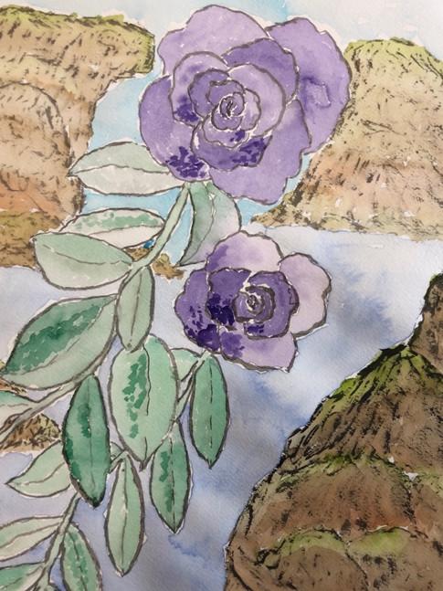 Purple Flowers Scenery