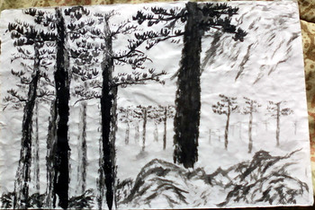 Forest w/ Mountian
