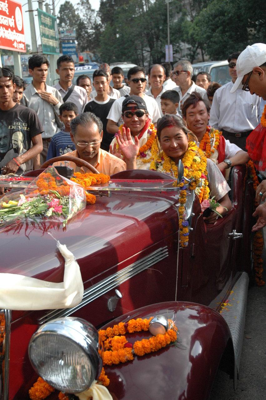 Welcoming in kathmandu
