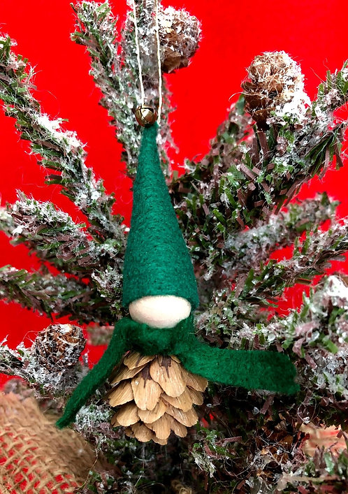 Pinecone Elf Tree Ornament
