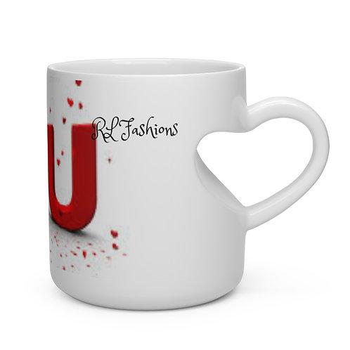 RL Fashions Valentine's Heart Shape Mug