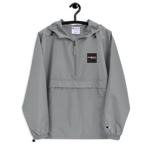 Hood Raised Embroidered Champion Packable Jacket