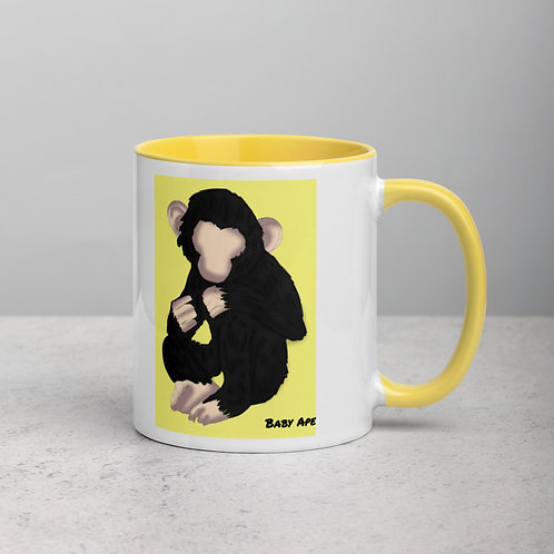Baby Ape Mug with Color Inside