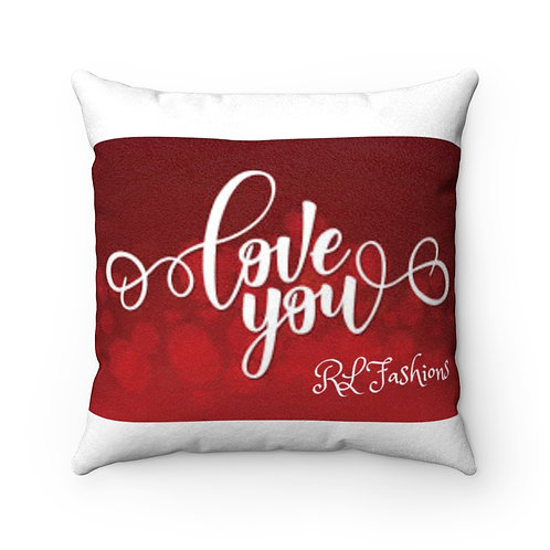 RL Fashions Valentine's Suede Pillow