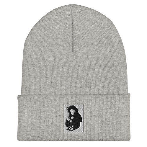 Embroidered Design Cuffed Beanie by Baby Ape