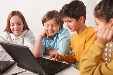 cheerfu-kids-enjoying-working-on-a-proje