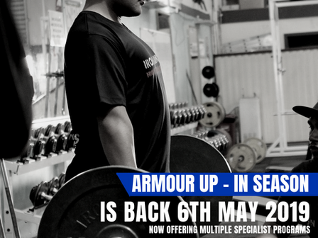 ARMOUR UP IS BACK - 6TH MAY 2019