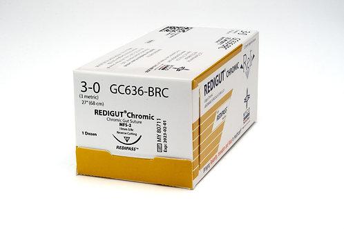 """RELI REDIGUT Chromic Gut 3-0 MFS-2(FS2 or C6) 27"""" Suture"""