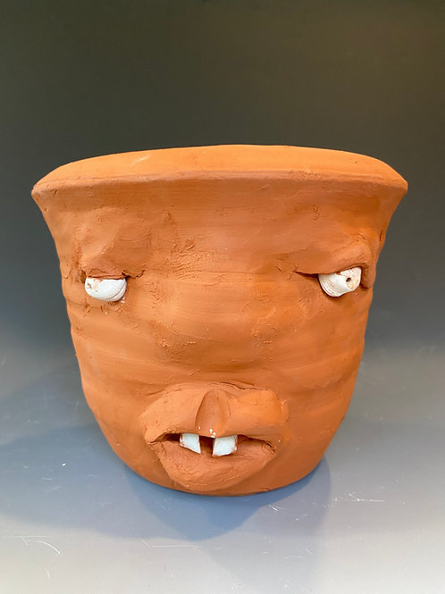 Face Jug Planter-Medium