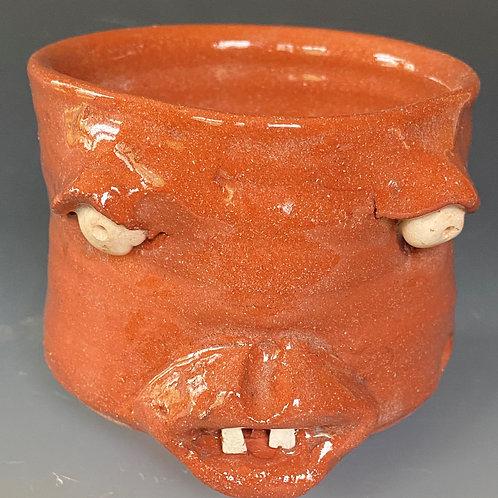 Earthenware Face Jug Cup