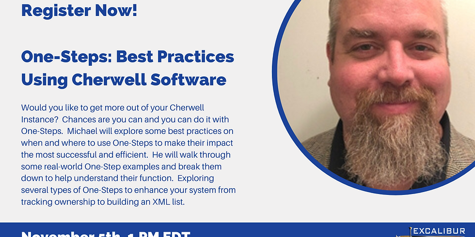One-Steps: Best Practices Using Cherwell Software
