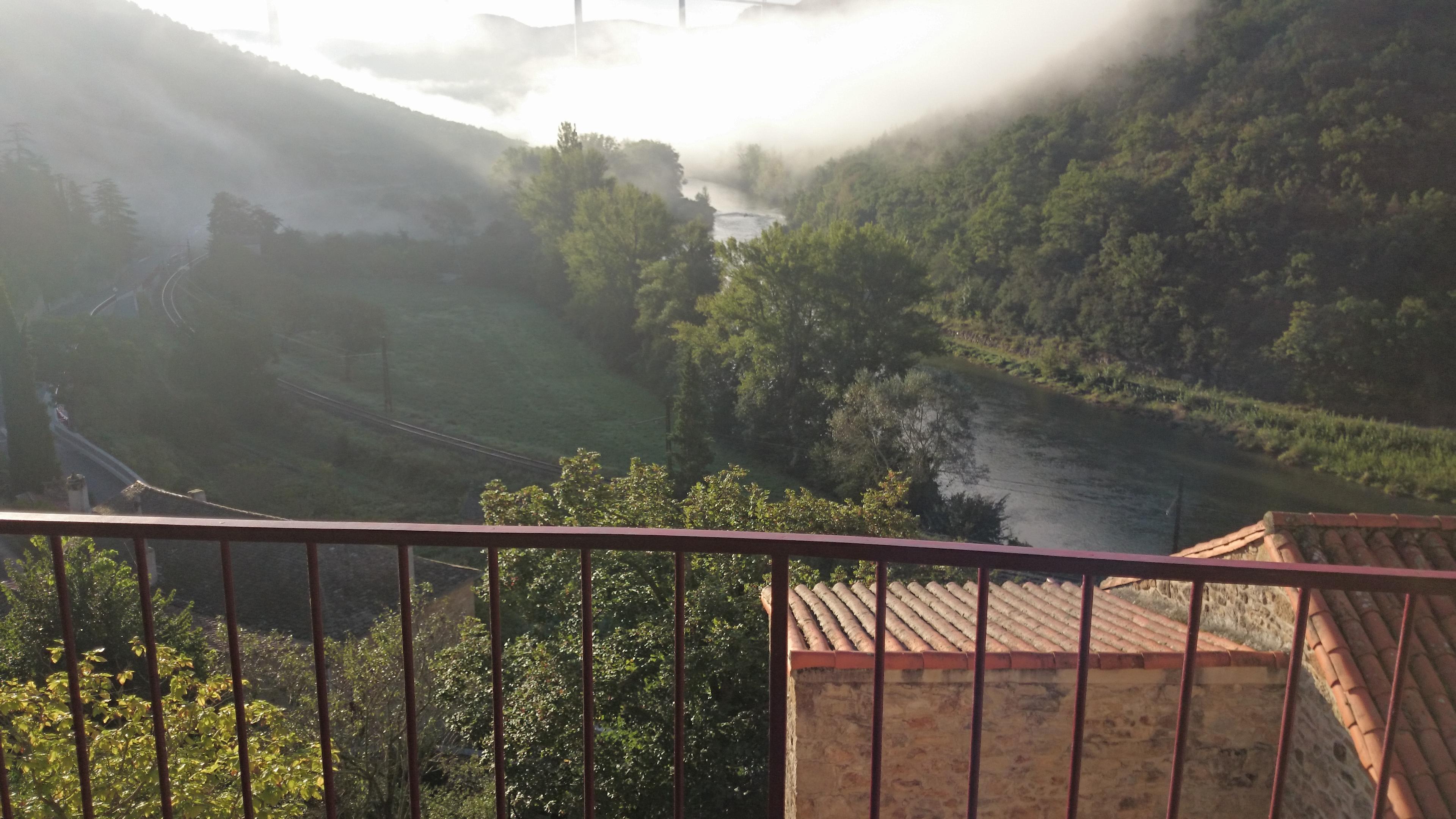 vue de la terrasse: le tarn