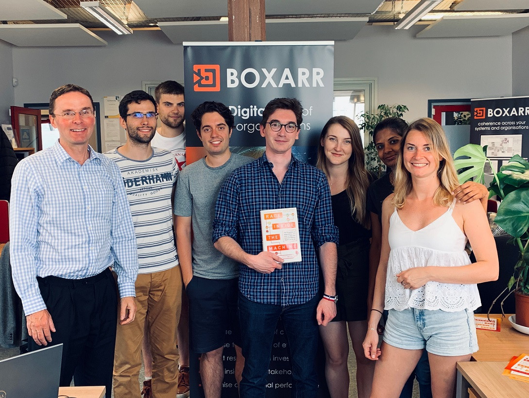 BOXARR Team spporting Robs book launch.j