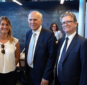 We met Sir Vince Cable today