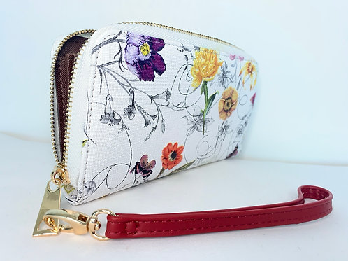 Floral Wallet | White