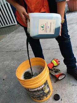Uso de productos biodegradables