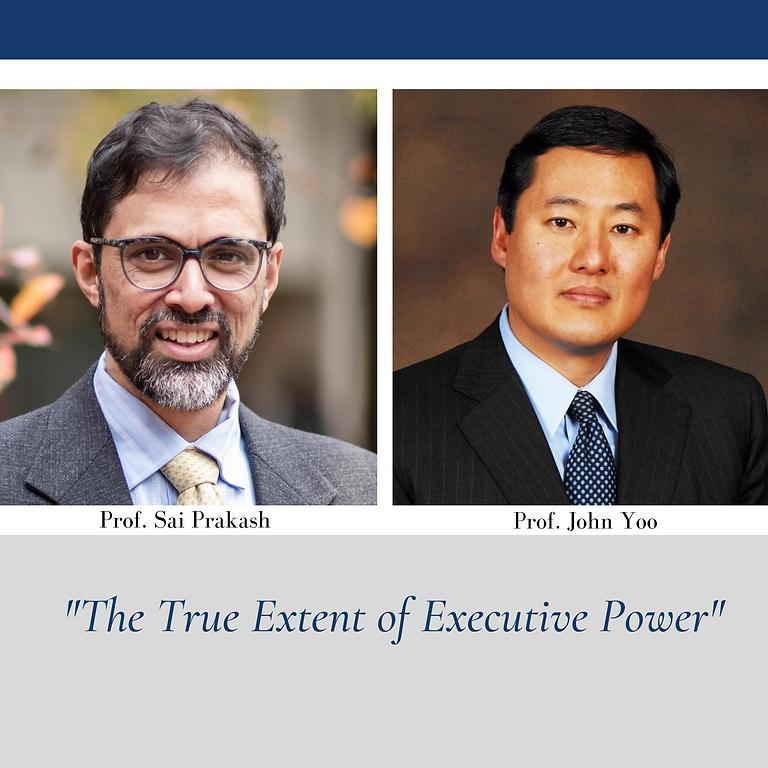 """Firing Line Debate: """"The True Extent of Executive Power"""""""