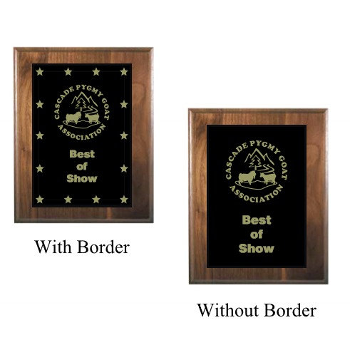 Genuine Solid Walnut Plaques