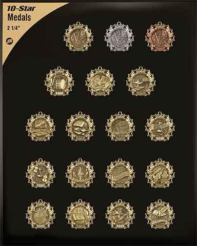 "2 1/4"" Ten Star Medals"