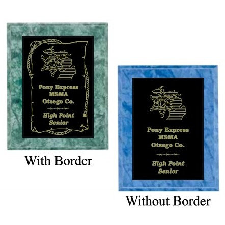 Colored Marble Finish Plaques