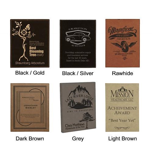 Leatherette Plaques